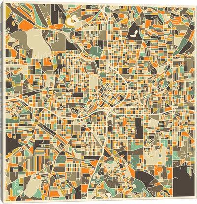 Abstract City Map of Atlanta Canvas Print #JBL88