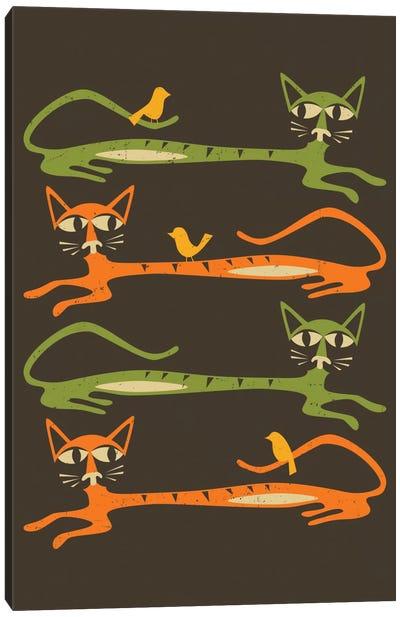 Birds On A Cat Canvas Print #JBL8