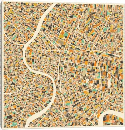 Abstract City Map of Bangkok Canvas Art Print