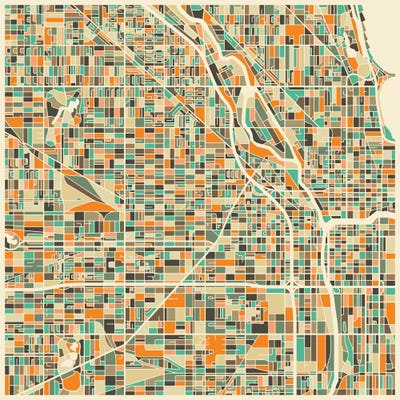 Chicago Map Canvas.Abstract City Map Of Chicago Canvas Print By Jazzberry Blue Icanvas