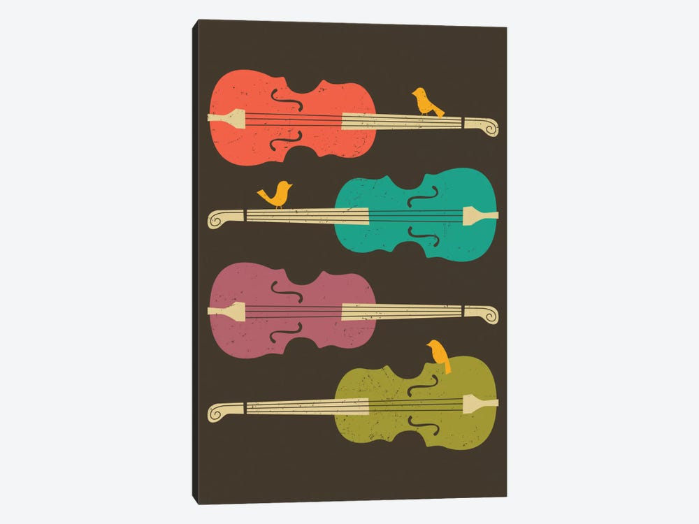 Birds On A Cello String by Jazzberry Blue 1-piece Canvas Art