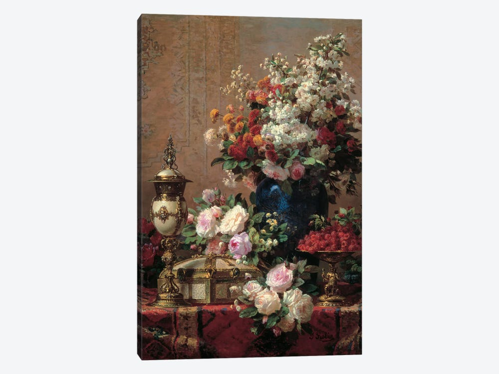 Still Life by Jean Baptiste Robie 1-piece Canvas Art Print