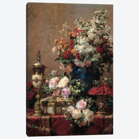 Still Life Canvas Print #JBP2} by Jean Baptiste Robie Canvas Artwork