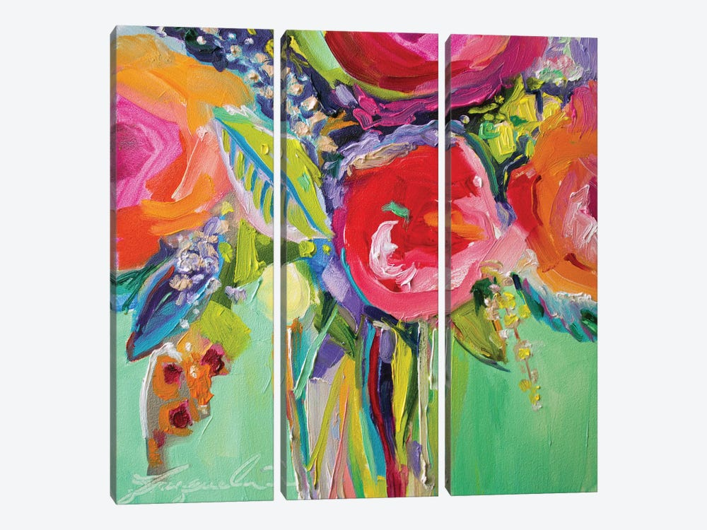 Ode To Summer I by Jacqueline Brewer 3-piece Canvas Artwork