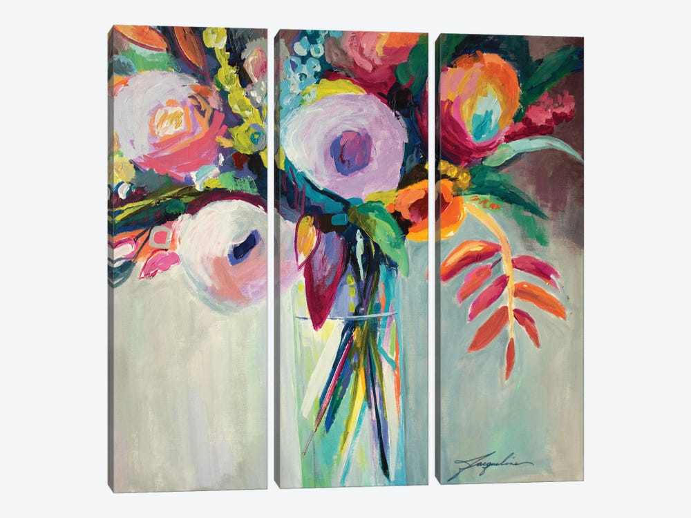 Ode To Summer VII by Jacqueline Brewer 3-piece Canvas Wall Art