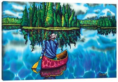 Canoeing Ontario Canvas Art Print