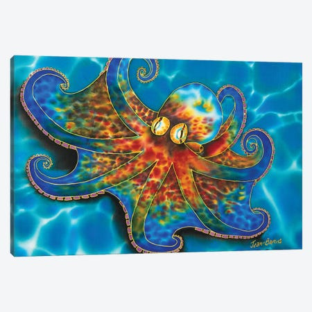 Caribbean Octopus Canvas Print #JBT14} by Daniel Jean-Baptiste Art Print