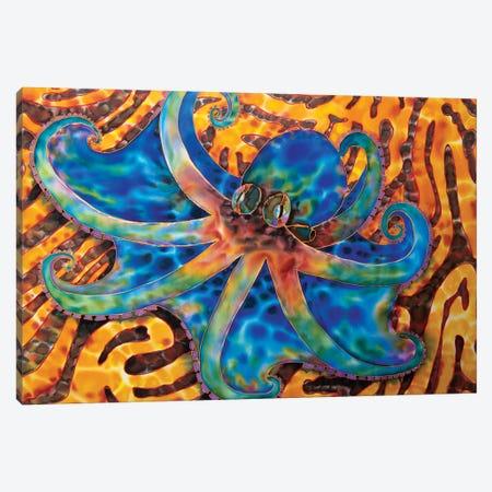 Caribbean Octopus - Coral Canvas Print #JBT15} by Daniel Jean-Baptiste Canvas Print