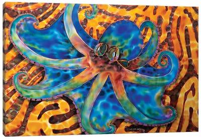 Caribbean Octopus - Coral Canvas Art Print