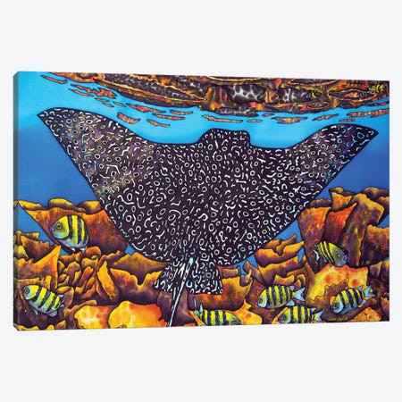 Eagle Ray Canvas Print #JBT22} by Daniel Jean-Baptiste Art Print