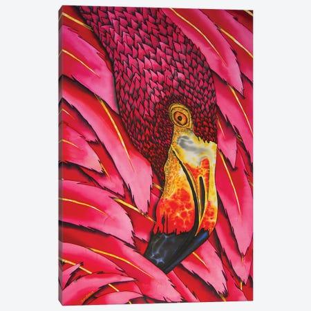 Flaming Flamingo Canvas Print #JBT25} by Daniel Jean-Baptiste Canvas Wall Art
