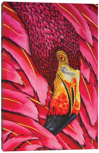 Flaming Flamingo Canvas Art Print