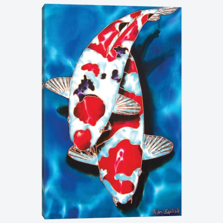 2 Koi Canvas Print #JBT2} by Daniel Jean-Baptiste Canvas Art