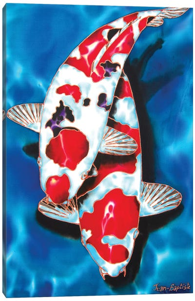 2 Koi Canvas Art Print