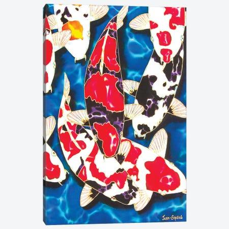 Japanese Koi Garden Canvas Print #JBT31} by Daniel Jean-Baptiste Canvas Artwork