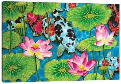Koi & Lotus Canvas Art Print