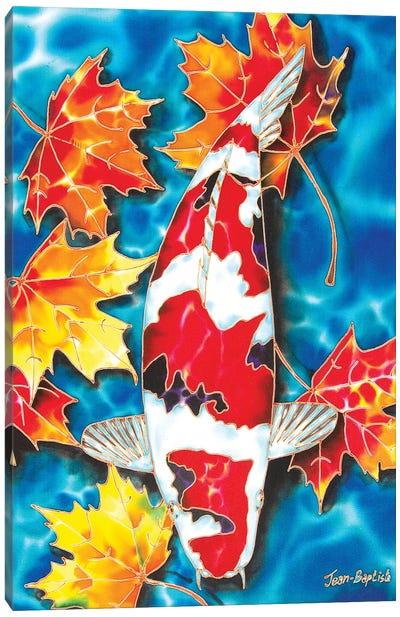 Koi & Maple Leaves Canvas Art Print