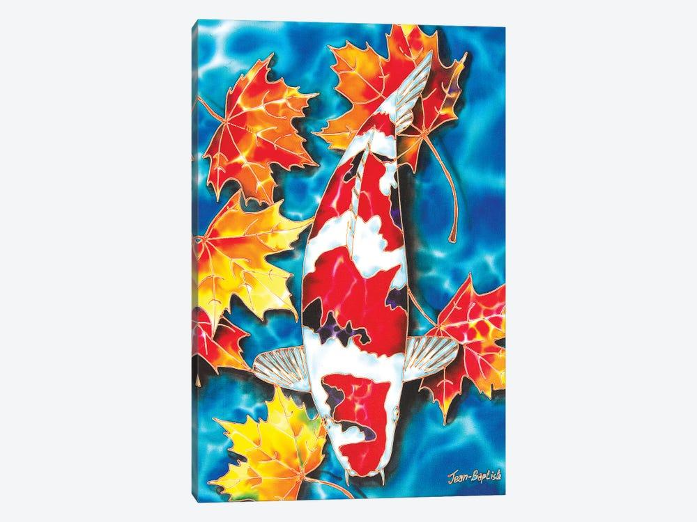 Koi & Maple Leaves by Daniel Jean-Baptiste 1-piece Canvas Art