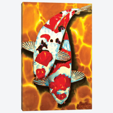 Koi in Crystal Pond Canvas Print #JBT35} by Daniel Jean-Baptiste Art Print