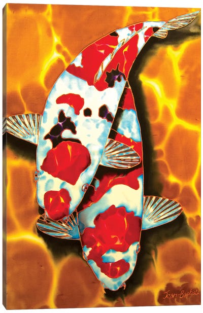 Koi in Crystal Pond Canvas Art Print