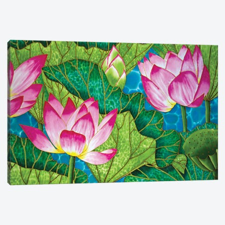 Lotus Canvas Print #JBT38} by Daniel Jean-Baptiste Canvas Wall Art