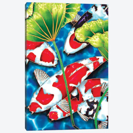 Lotus Garden Canvas Print #JBT39} by Daniel Jean-Baptiste Canvas Wall Art