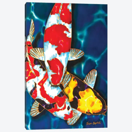 3 Koi Canvas Print #JBT3} by Daniel Jean-Baptiste Canvas Art