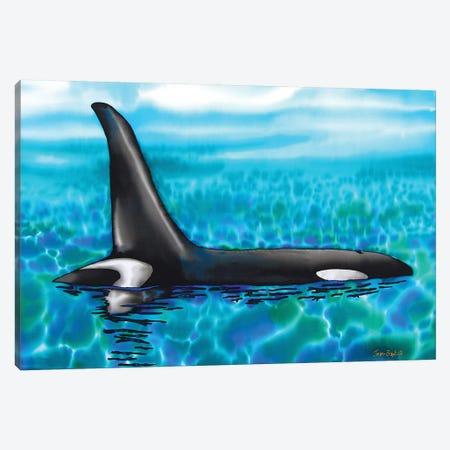 Orca Canvas Print #JBT46} by Daniel Jean-Baptiste Canvas Wall Art