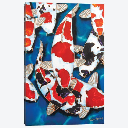 8 Koi Canvas Print #JBT4} by Daniel Jean-Baptiste Canvas Art Print