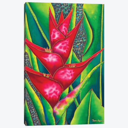 Red Heliconia Canvas Print #JBT51} by Daniel Jean-Baptiste Canvas Art