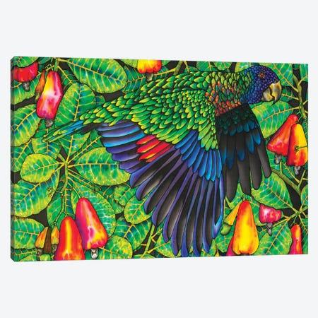 St. Lucia Amazona Versicolor Canvas Print #JBT57} by Daniel Jean-Baptiste Art Print