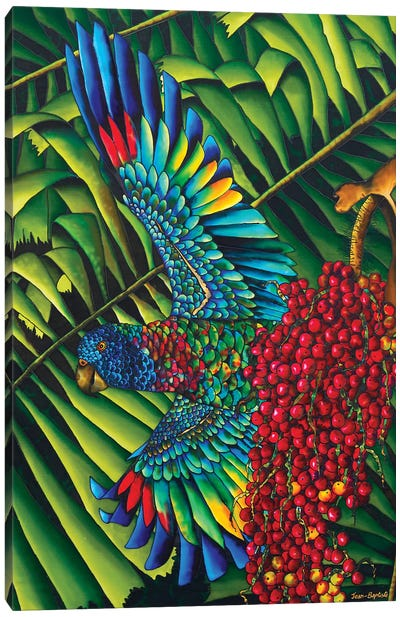 St. Lucia's Bird Of Paradise Canvas Art Print