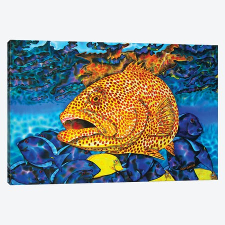 Tiger Canvas Print #JBT59} by Daniel Jean-Baptiste Canvas Artwork