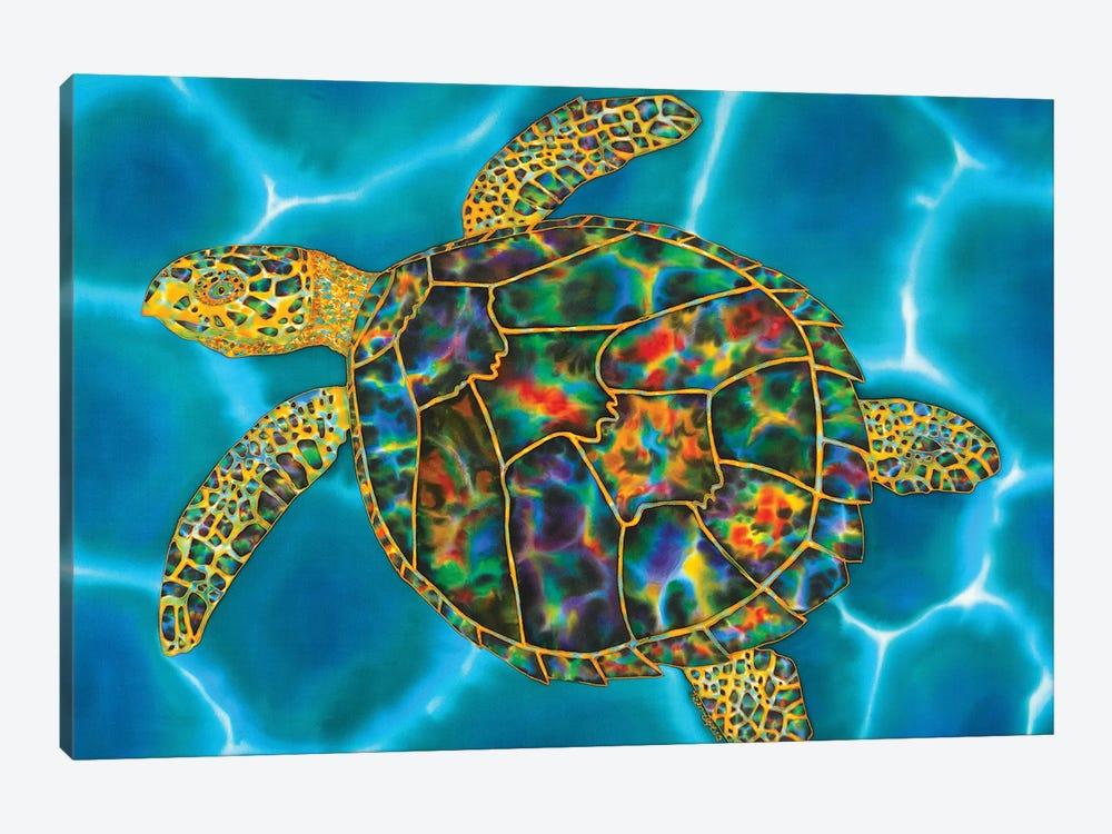 Rainbow Opal Turtle by Daniel Jean-Baptiste 1-piece Canvas Artwork