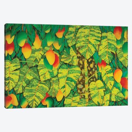 Monstera & Mango Canvas Print #JBT68} by Daniel Jean-Baptiste Canvas Print