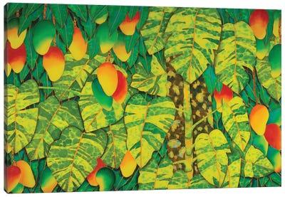 Monstera & Mango Canvas Art Print