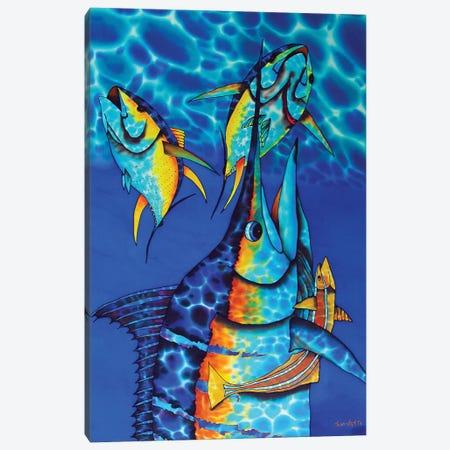 Blue Charge Canvas Print #JBT7} by Daniel Jean-Baptiste Canvas Print