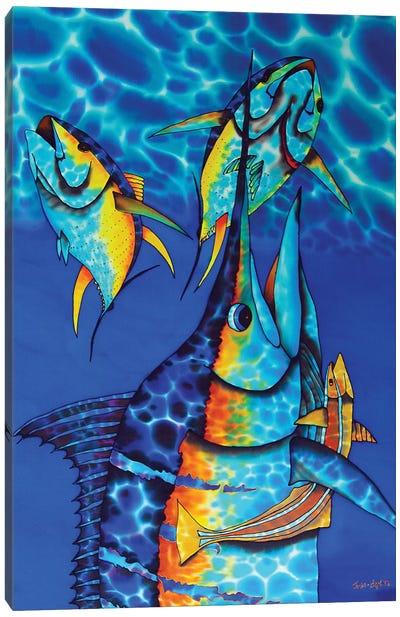 Blue Charge Canvas Art Print