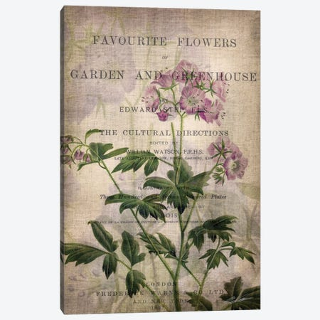 Favorite Flowers IV Canvas Print #JBU2} by John Butler Art Print