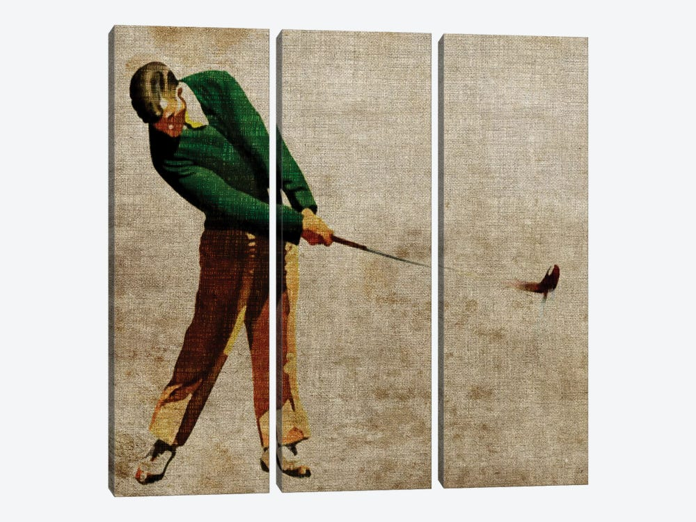 Vintage Sports II by John Butler 3-piece Canvas Art Print