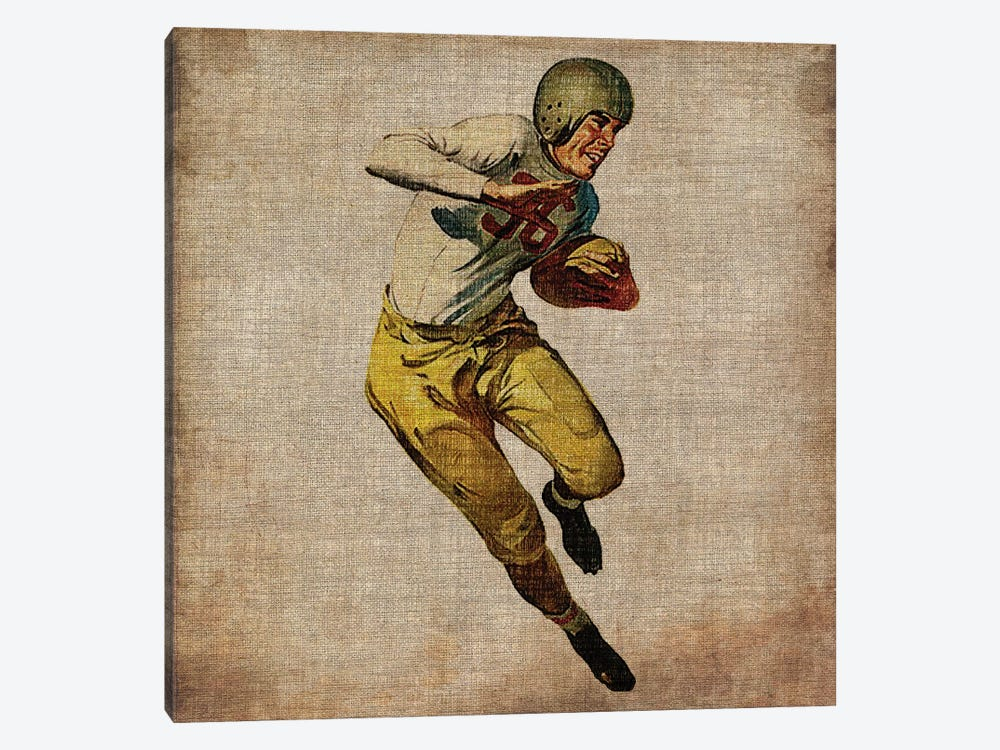 Vintage Sports III by John Butler 1-piece Canvas Artwork