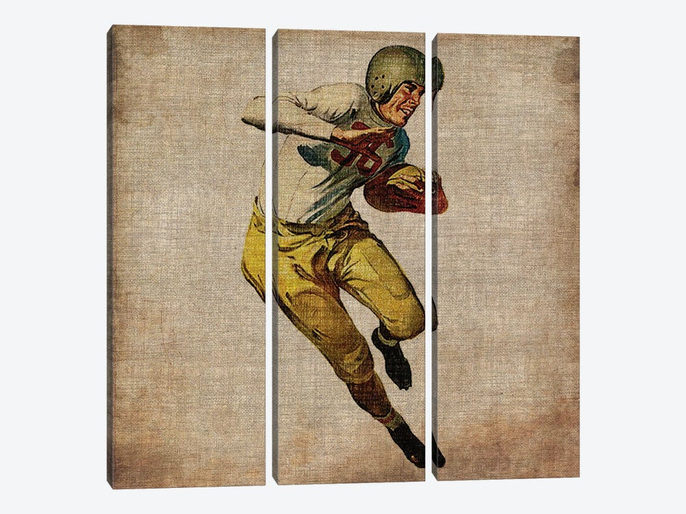 Vintage Sports III by John Butler 3-piece Canvas Artwork