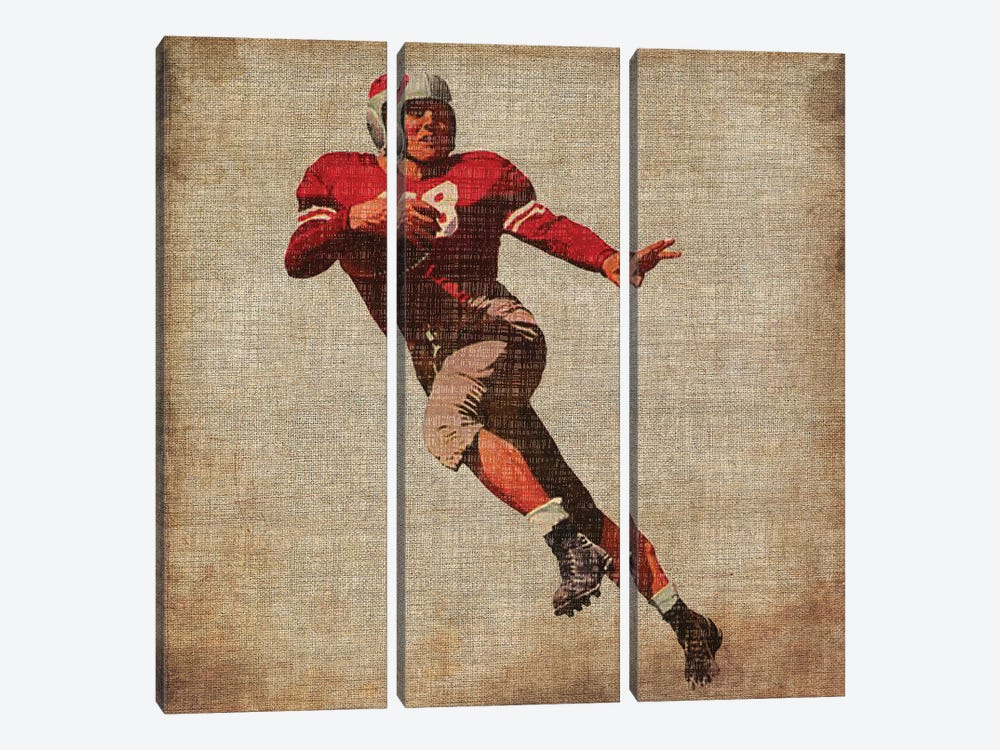 Vintage Sports IV by John Butler 3-piece Canvas Art Print