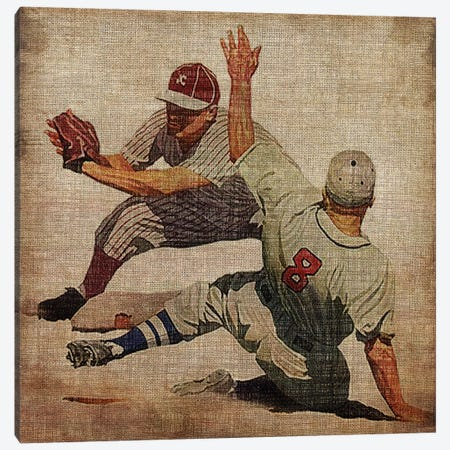 Vintage Sports VII Canvas Print #JBU8} by John Butler Canvas Art Print