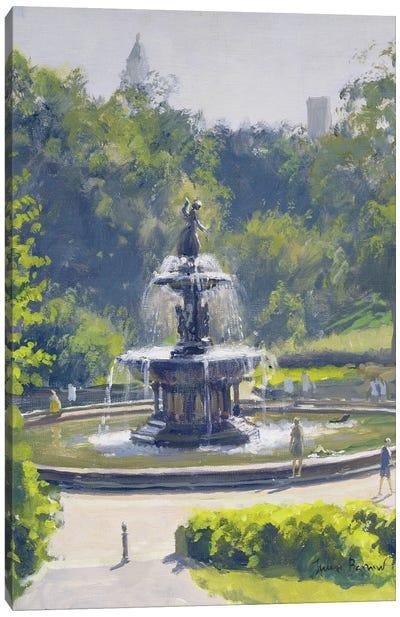 The Bethesda Fountain, Central Park, 1996 Canvas Art Print
