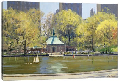 The Boating Lake, Central Park, New York, 1997 Canvas Art Print