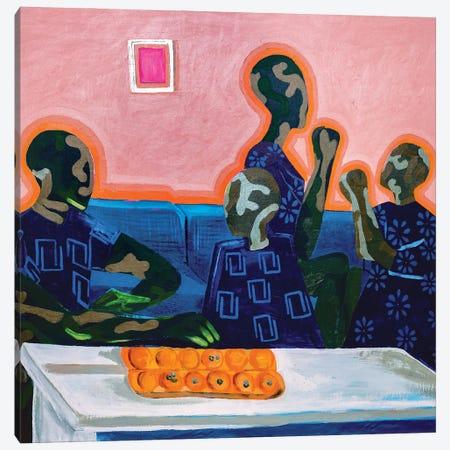 Joy In Family - Learning Canvas Print #JBY14} by Janet Adebayo Adenike Canvas Artwork