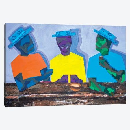 The Conversation Canvas Print #JBY2} by Janet Adebayo Adenike Canvas Art Print