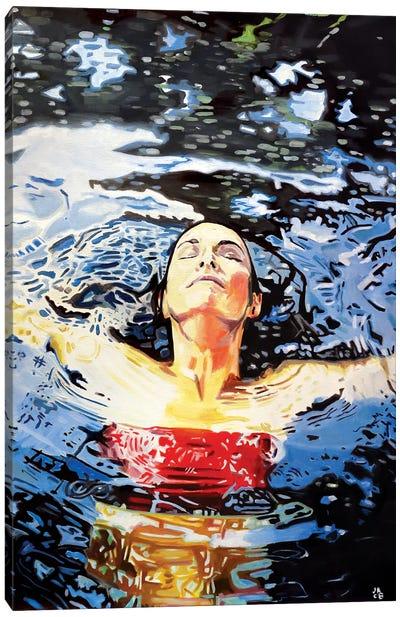 Lake Bathing Canvas Art Print
