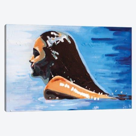 Swimming Canvas Print #JBZ14} by JAC Bezer Canvas Print